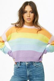 Rainbow Stripe Sweater by Forever 21 at Forever 21