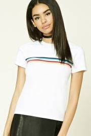 Rainbow Stripe Tee at Forever 21