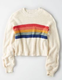 Rainbow Striped Sweater by American Eagle at American Eagle