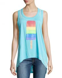 Rainbow popsicle jersey tank at Last Call