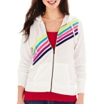 Rainbow striped hoodie at JC Penney at JC Penney
