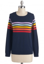 Rainbow sweater from Modcloth at Modcloth