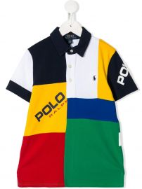 Ralph Lauren Kids color-block polo shirt color-block polo shirt at Farfetch