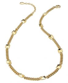 Ralph Lauren 14k Gold-Plated Pyramid Stud Station Necklace at Macys