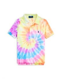 Ralph Lauren Boys  x27  Tie-Dyed Polo Shirt - Little Kid Kids - Bloomingdale s at Bloomingdales