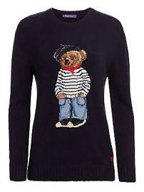 Ralph Lauren Collection - Marseille Bear Crewneck Sweater at Saks Fifth Avenue