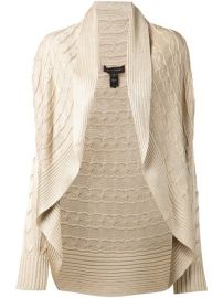 Ralph Lauren Collection Cable Knit Open Front Cardigan at Farfetch