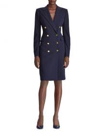 Ralph Lauren Collection Wellesley Double-Breasted Wool Coat Dress at Neiman Marcus