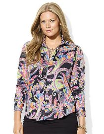 Ralph Lauren Cotton Paisley Shirt at Macys