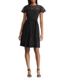 Ralph Lauren Petites Lace-Inset Dress Women -  Petites - Bloomingdale s at Bloomingdales