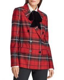 Ralph Lauren Plaid Double-Breasted Blazer Women - Bloomingdale s at Bloomingdales