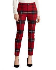 Ralph Lauren Plaid Straight-Leg Pants Women - Bloomingdale s at Bloomingdales