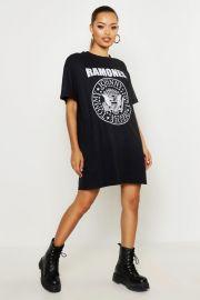 Ramones License T-Shirt Dress  at Boohoo