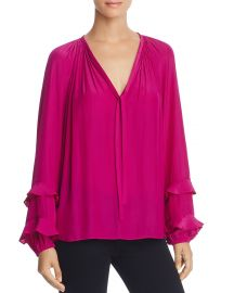 Ramy Brook Anna Ruffle-Sleeve Top at Bloomingdales