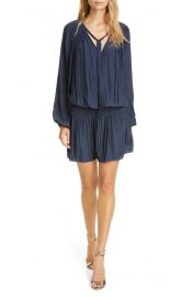 Ramy Brook Paris Long Sleeve Tie Neck Dress   Nordstrom at Nordstrom
