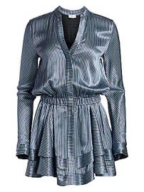 Ramy Brook - Alanis Metallic Stripe A-Line Shirtdress at Saks Fifth Avenue
