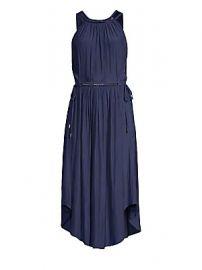 Ramy Brook - Laurel Halter Drawstring Handkerchief Midi Dress at Saks Fifth Avenue