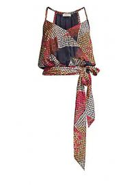 Ramy Brook - Natasha Printed Tie-Waist Blouse at Saks Fifth Avenue