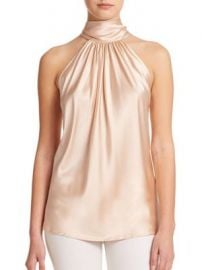 Ramy Brook - Paige Stretch-Silk Halter Blouse at Saks Fifth Avenue