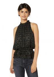 Ramy Brook  Bobbi Patterned Sleeveless Blouse at Amazon