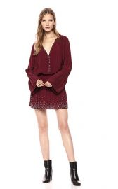 Ramy Brook  Izzie Long Sleeve Studded Dress at Amazon