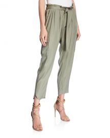 Ramy Brook Allyn Drawstring Pants with Utility Pockets at Neiman Marcus