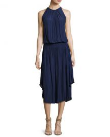 Ramy Brook Audrey Sleeveless Blouson Midi Dress at Neiman Marcus