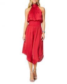 Ramy Brook Bella Halter Midi Dress at Neiman Marcus