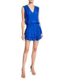 Ramy Brook Bernice Sleeveless Tiered Short Dress at Neiman Marcus