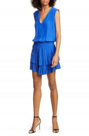 Ramy Brook Bernice Tiered Satin Dress   Nordstrom at Nordstrom