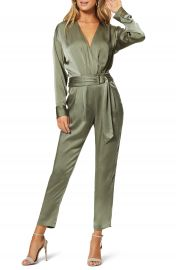 Ramy Brook Crosby Long Sleeve Satin Jumpsuit   Nordstrom at Nordstrom