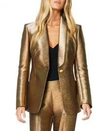 Ramy Brook Dahlia Metallic Shawl-Collar Jacket at Neiman Marcus