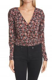 Ramy Brook Floral Print Wrap Silk Top   Nordstrom at Nordstrom