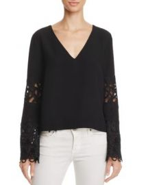 Ramy Brook Lace Bell Sleeve Top at Bloomingdales