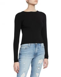 Ramy Brook Lucas Ribbed Lace-Up Top at Neiman Marcus