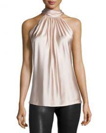 Ramy Brook Paige Halter-Neck Top Blush at Neiman Marcus