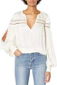 Ramy Brook Women s Maisy Long Sleeve Top at Amazon