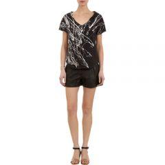 Raquel Allegra Paint-splattered Short-sleeve Sweatshirt at Barneys