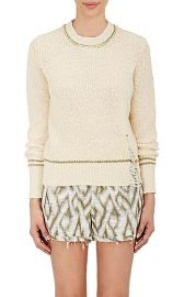 Raquel Allegra Shredded Cotton Sweater at Barneys