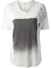 Raquel Allegra splash Print T-shirt - Feathers at Farfetch