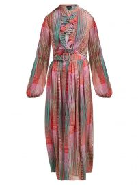 Raquel checked silk crepe de Chine midi dress at Matches