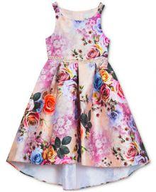 Rare Editions Big Girls Floral-Print Hi-Low Dress    Reviews - Dresses - Kids - Macy s at Macys