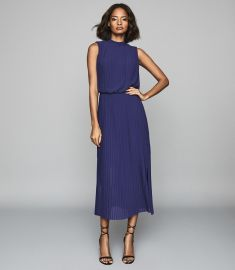 Ray Pleated Dress by Reiss at Reiss