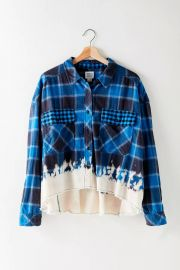Rayne Flannel Boxy Cropped Button-Down Shirt at Urban Outfitters