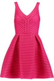 Rayure mesh-striped jersey mini dress at The Outnet