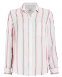 Reagan Striped Button Front Shirt at Intermix
