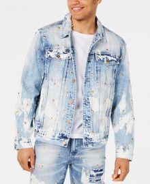 Reason Men s Lancaster Skull Studded Destroyed Denim Jacket   Reviews - Coats   Jackets - Men - Macy s at Macys