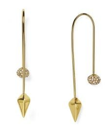 Rebecca Minkoff Pavé Ball Threader Earrings at Bloomingdales