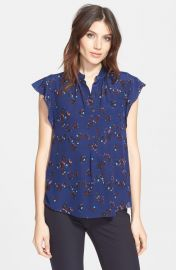 Rebecca Taylor   x27 Pinwheel Posy  x27  Silk Blouse   Nordstrom at Nordstrom