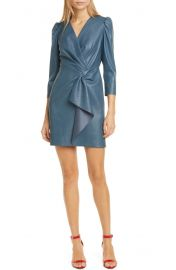Rebecca Taylor Faux Leather Dress   Nordstrom at Nordstrom